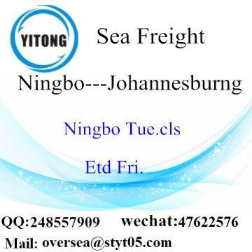 Ningbo Port LCL Consolidation To Johannesburg