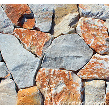 Natural Yellow Irregular Stone Panel for Outside Wall