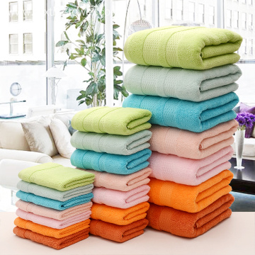 Solid Color & Double Satin Cotton Bath Towels