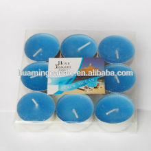Customized for Colored Tealight Candle With Aluminum Holder tealight flamless candle/ hollidays use indoor supply to France Metropolitan Suppliers