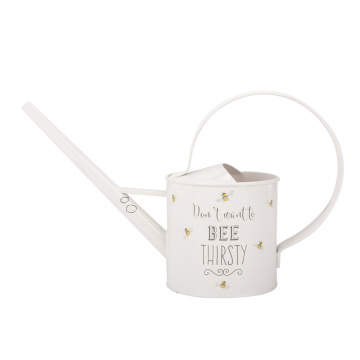 White Long Neck Large Metal Watering Can