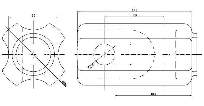 ANSI 54-3 Electrical Porcelain Strain Insulators China