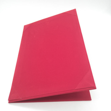 Custom Red Velvet Luxury Paper Menu