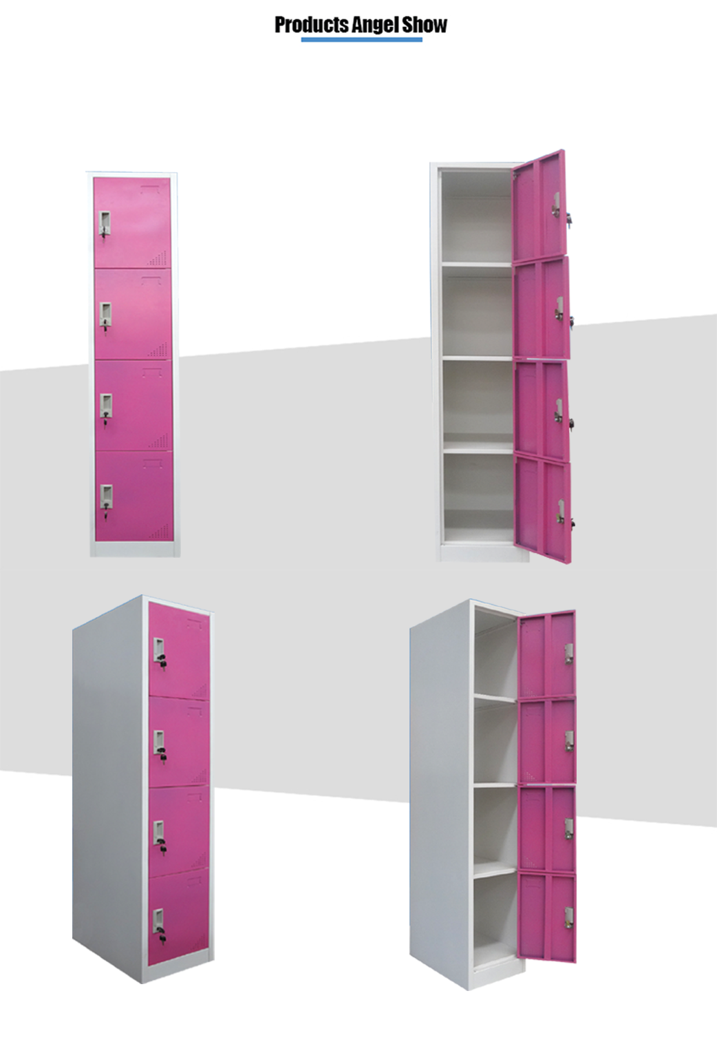 steel 4 tier wardrobe
