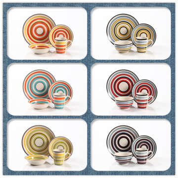 COLORFUL HANDPAINTED  TABLEWARE DINNER SET DINNERWARE