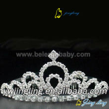 Hot Sale for Wedding Rhinestone Tiaras Mini Rhinestone Tiara Pageant Crowns For Doll export to Romania Factory