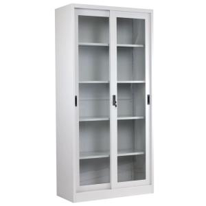 Glass Sliding Door Metal Cupboard