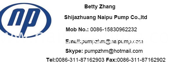 contact info AH slurry pump