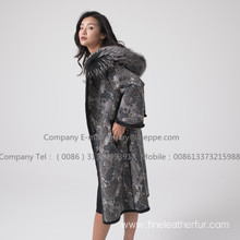 Mink Fur Lady Reversible Women Coat