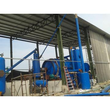 free installation waste tires pyrolysis to oil equipment