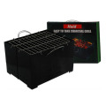 Folded charcoal steam grill