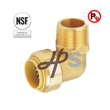 NSF free lead brass Push Fit Mnpt Male Couplings