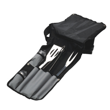 5pcs bbq tool set with nylon bag