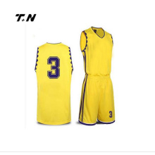 Custom made Quick Dry Basketball Team Uniform Sets/ Youth reversible Sublimation Printed Basketball Jersey
