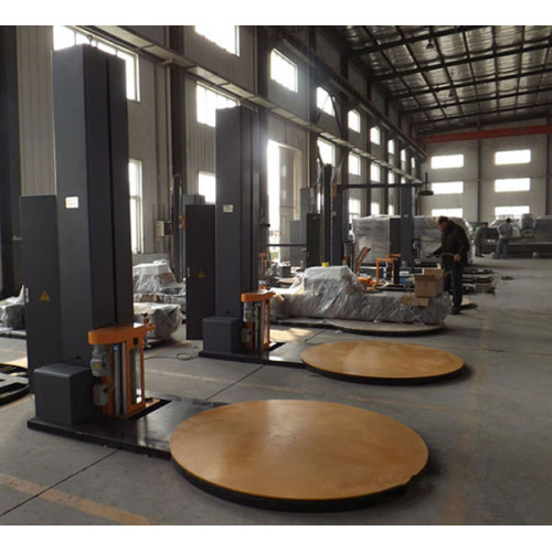 LLDPE stretch film wrapping Machine for wooden pallet