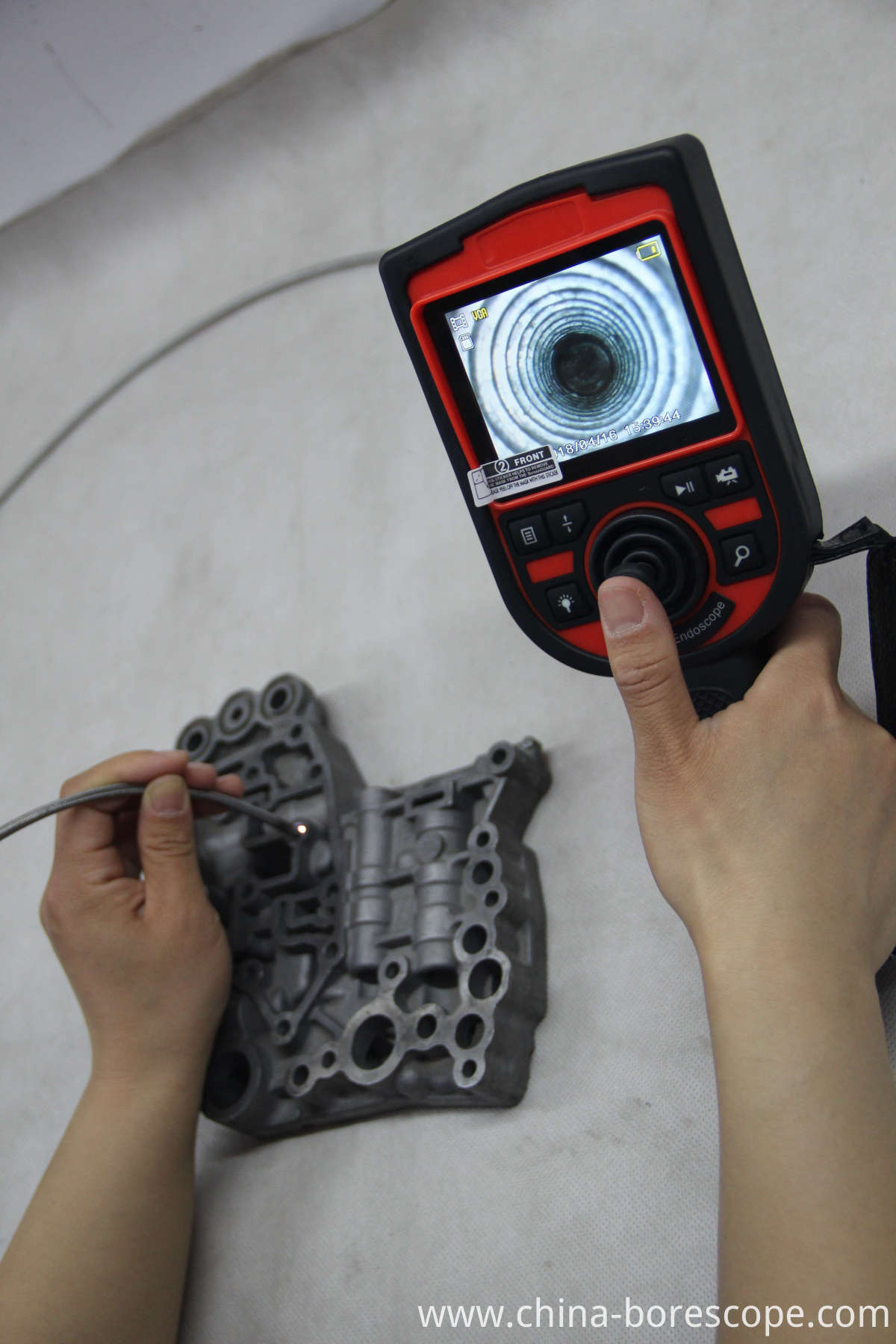 Portable vidoe borescope