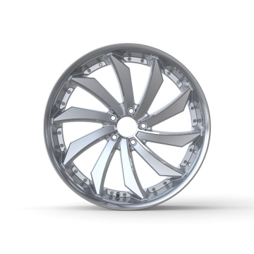 Front/Rear Left/Right Wheel 22x9 Silver Stainless Steel Lip