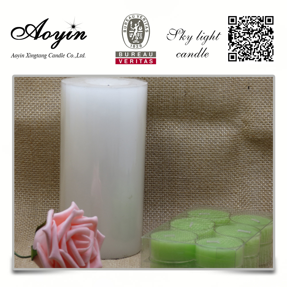 7.5cm scented home decoration pillar candles ivory