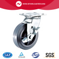 8'' Heavy Duty Swivel TPR Industrial Caster with PP Core With Side Brake