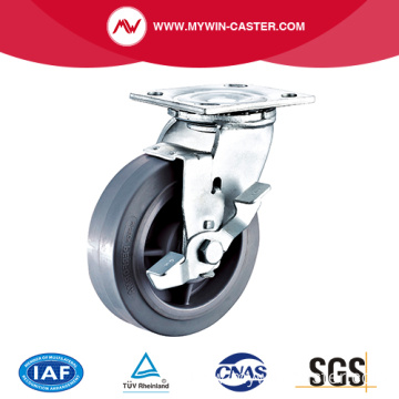 6'' Heavy Duty Swivel TPR Industrial Caster with PP Core With Side Brake