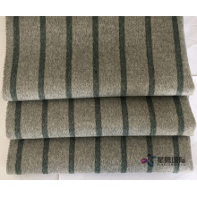 Professional China for Double Face Wool Fabric Green Vertical Stripe 100% Wool Fabric export to Fiji Manufacturers