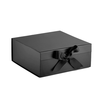 Large black white paper cardboard gift hamper box