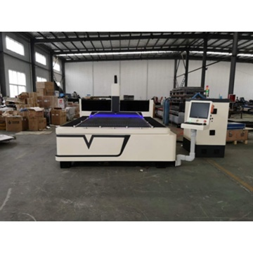 CNC fiber laser cutting machine cut metal sheet