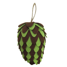 Christmas felt hanging pine cone ornament