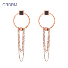 Latest Model Rose Gold Long Statement Earrings
