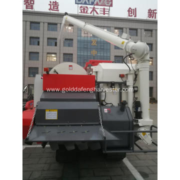 Automatic unloading grain full-feed rice combine harvester