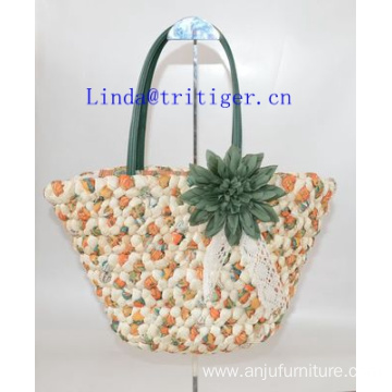 Manmade Straw Weave Shoulder Beach Bags Handbag