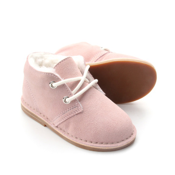 Warm Winter Baby Kids Plush Leather Shoes