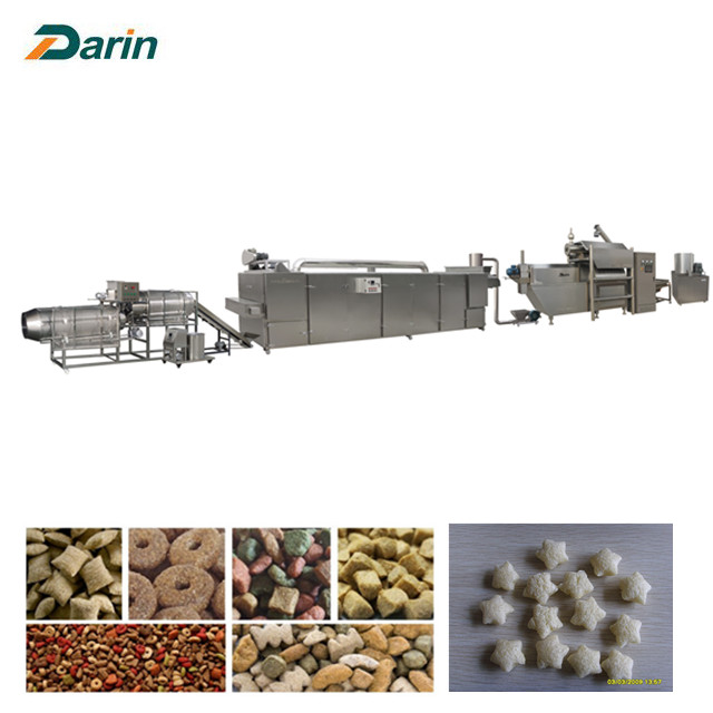 Dry dog food twin screw extruder production line