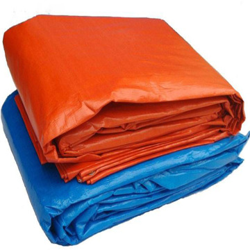 Ready Made Orange PE Tarpaulin with Plastic Corners