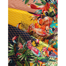 Customized for 32S Printing Rayon Challis Birds Design Rayon Challis 32S Printing Fabric supply to Azerbaijan Wholesale