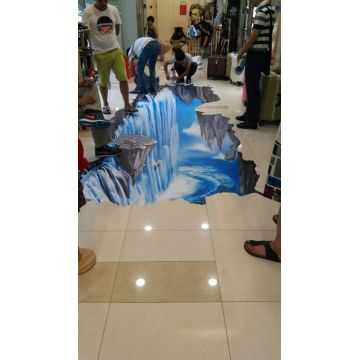 Full Color Printing 3D Decorative Vinyl Floor Sticker