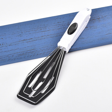 Shovel clip silicone kitchen tongs with plastic handle