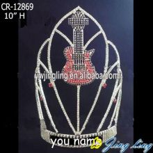 Fashion Guitar Music Pageant Crown For Girl