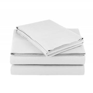4Pcs 105GSM Microfiber Fiber Bed Sheet For Hotel