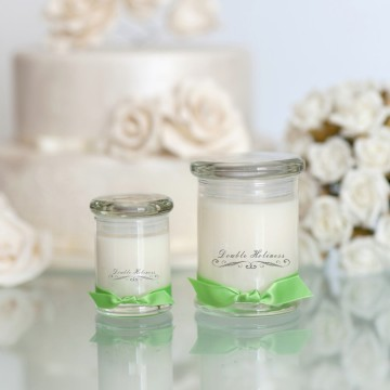 Aromatic natural soy candle in luxury glass jar
