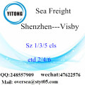 Shenzhen Port LCL Consolidation To Visby