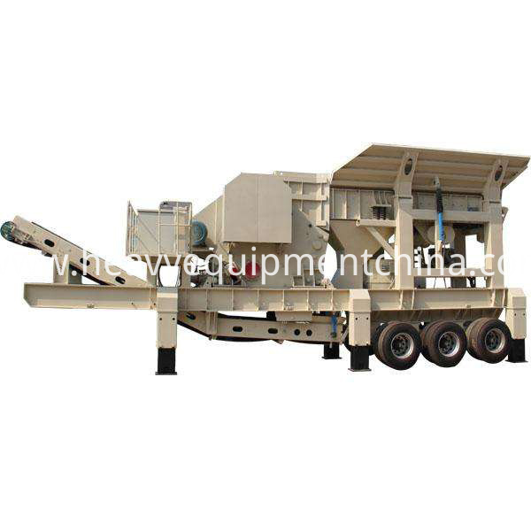 Moible impact crusher plant