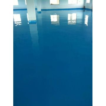 Sky blue waterborne epoxy floor paint