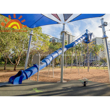 Outdoor Custom Park Tube Slide Equipment for kids