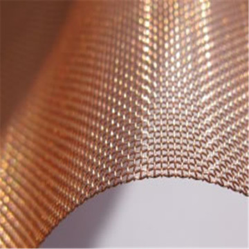 Plain Weave Red Copper Wire Mesh Cloth