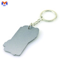 Metal keychain with custom logo
