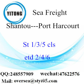 Shantou Port LCL Consolidation To Port Harcourt