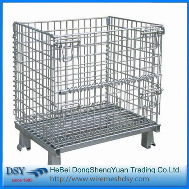 Collapsible Storage Wire Mesh Cage