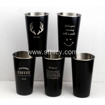 Logo custom ins Nordic simple stainless steel cup