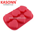 6 Cavity Medium Silicone Heart Pastry Khuôn